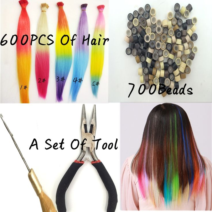 Micro Loop Ring Hair Extension 600PCS Synthetic Loop Hair Ombre 3 Colors Hairpieces And Of 700 Beads And A Set Of Hair Loop Tool. Made by 100% Japan high temperature fiber,looks beautiful and more confortable,soft,breathable.Syntetic cheap feather hair extension,It brings out a positive and happy mood everywhere around us and that to make some change in the hairstyle.A comfortable experience, a confident appearance.Ok, maybe  you can think about the hair extensions.