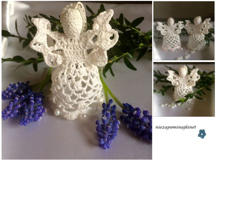 Hand crocheted angel - a gift thank by Niezapominajkinet on Etsy
