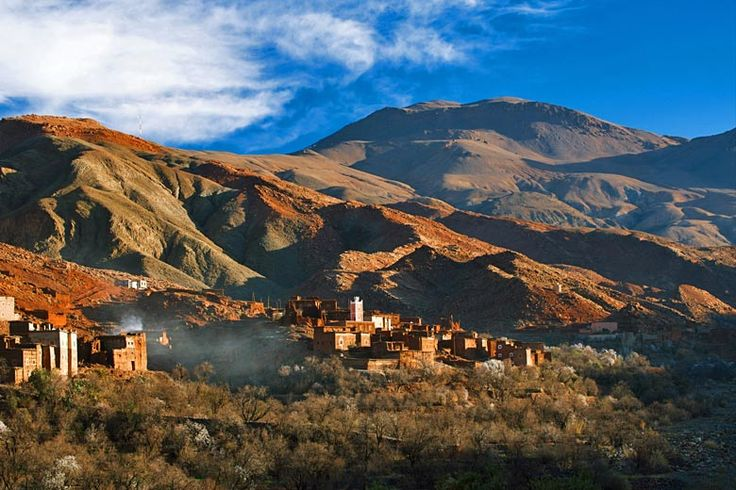 Day trips from #Marrakech | http://www.weather2travel.com/blog/marrakech-day-trips-and-excursions.php | #Morocco #travel | Berber village, High Atlas Mountains