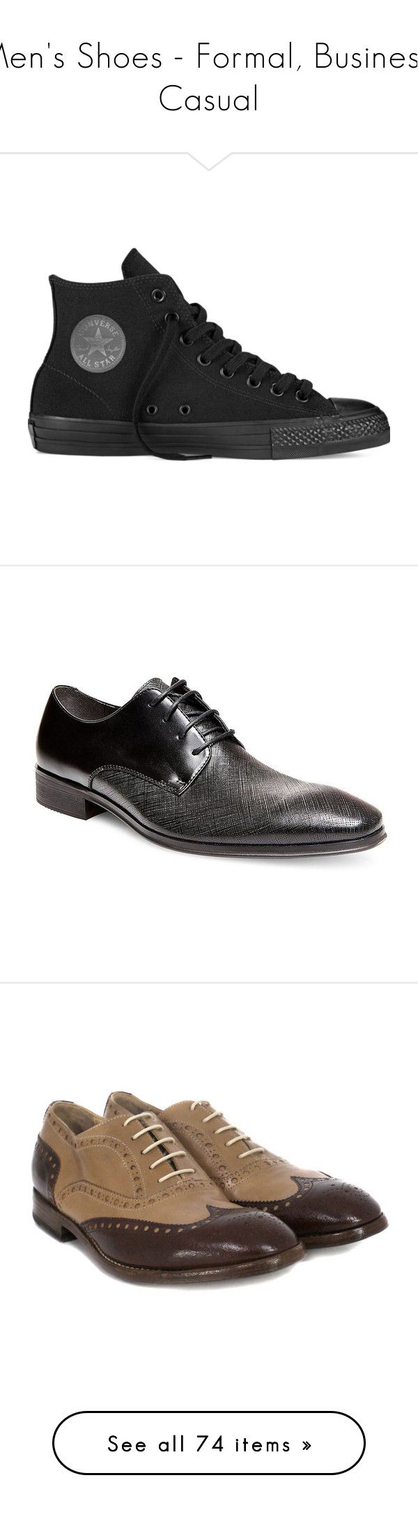 """""""Men's Shoes - Formal, Business, Casual"""" by servayne ❤ liked on Polyvore featuring shoes, sneakers, converse, black, hi tops, converse shoes, converse trainers, black hi top sneakers, high top trainers e men's fashion"""