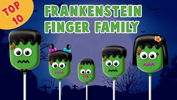 Frankenstein Finger Family Song | Top 10 Halloween Finger Family Songs | Daddy Finger Rhyme