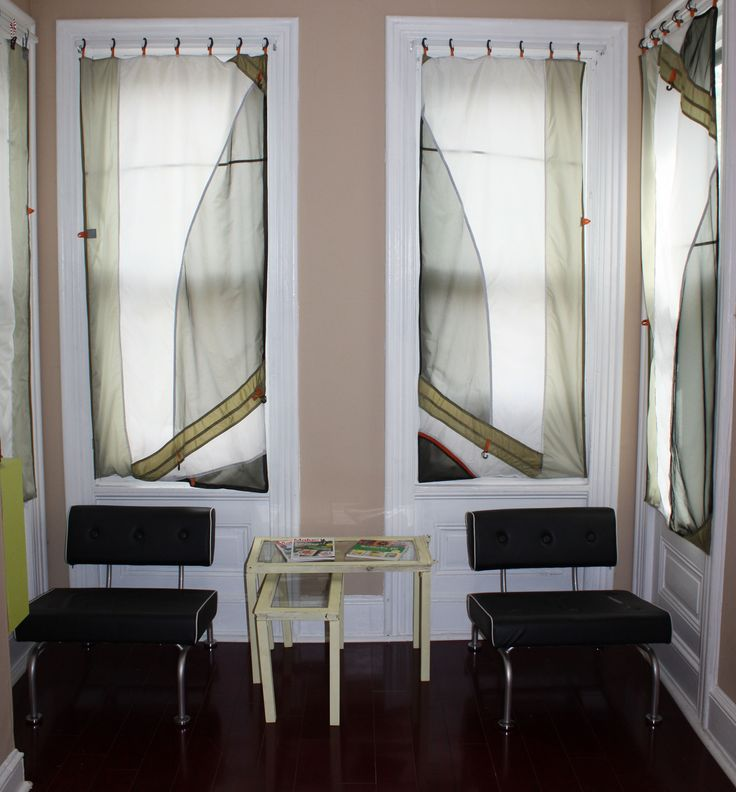upcycled curtain from old tents