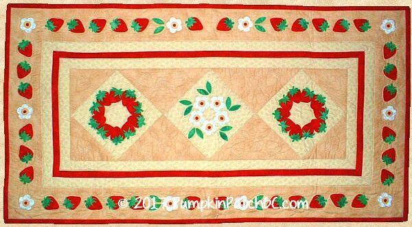 Strawberries & Cream Table Runner PPP008-EIN