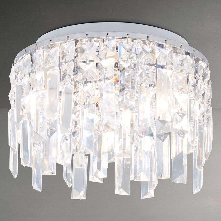 BuyIlluminati Sophia Crystal Small Bathroom Light Clear Online At Johnlewis