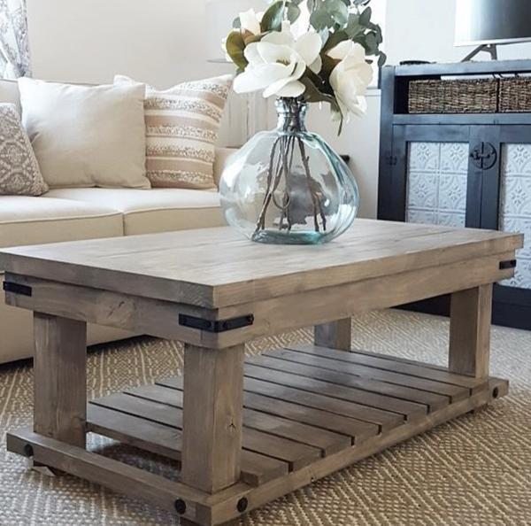 Diy Industrial Coffee Table Farmhouse Style Coffee Table