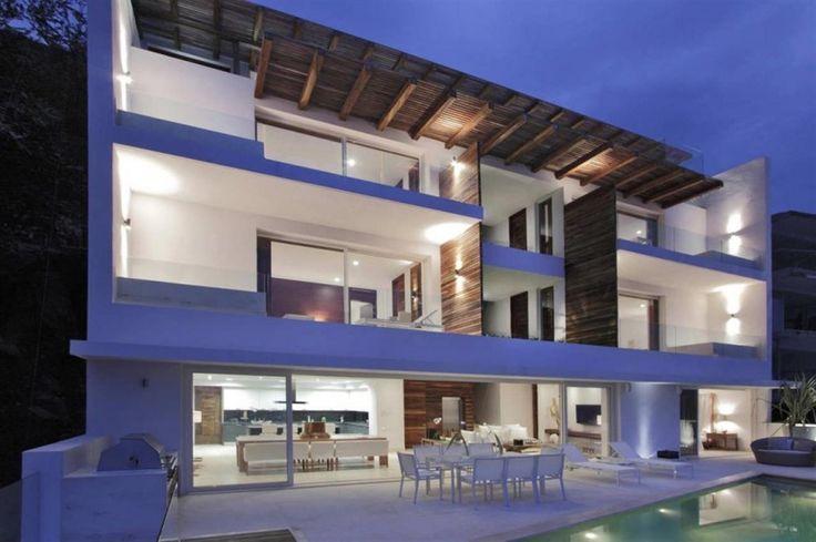 White Balcony Design In Mexican Architecture Scheme