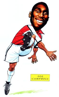 Arsenal FC Sol Campbell Caricature