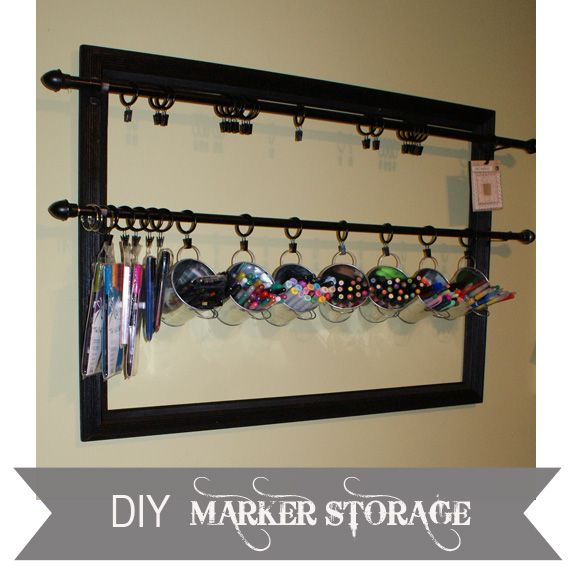 Craft supply storage with dollar store supplies