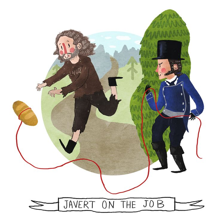 Hahaha Javert and Jean Valjean