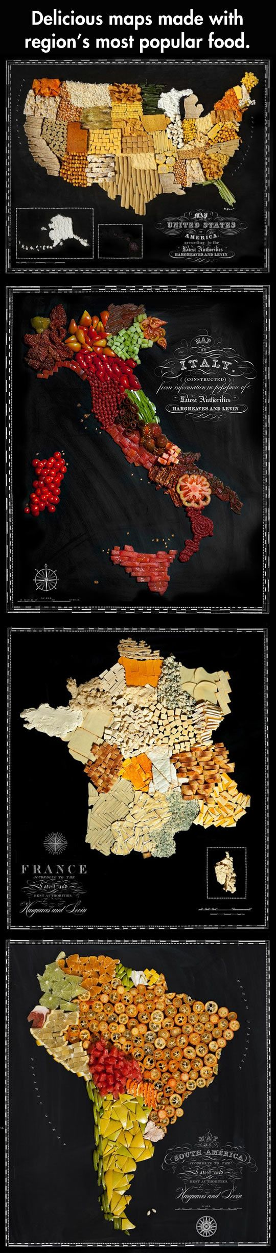 Beautiful Maps of Countries Made Out of