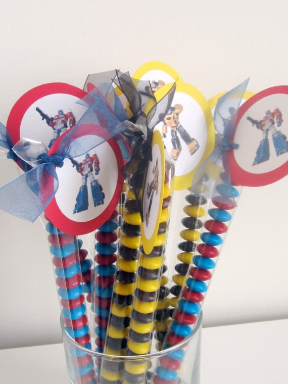 Party Favor: Candies Parties, Birthday Parties, Boys Birthday, Transformers Parties, Transformer Party Favors, Autobots Rolls, Transformers Candies, Transformers Birthday, Birthday Ideas