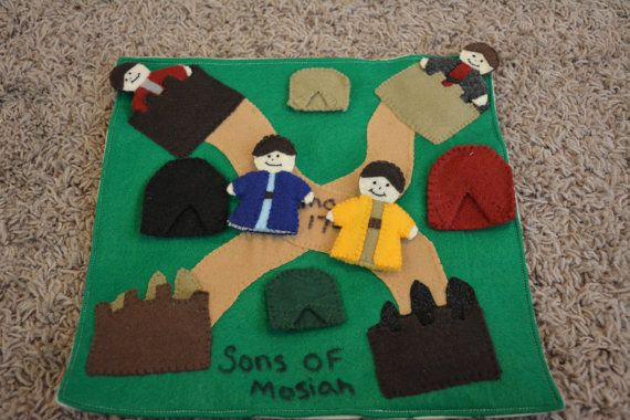 Sons of Mosiah LDS Book of Mormon Quiet Book by HeavenlyMannah