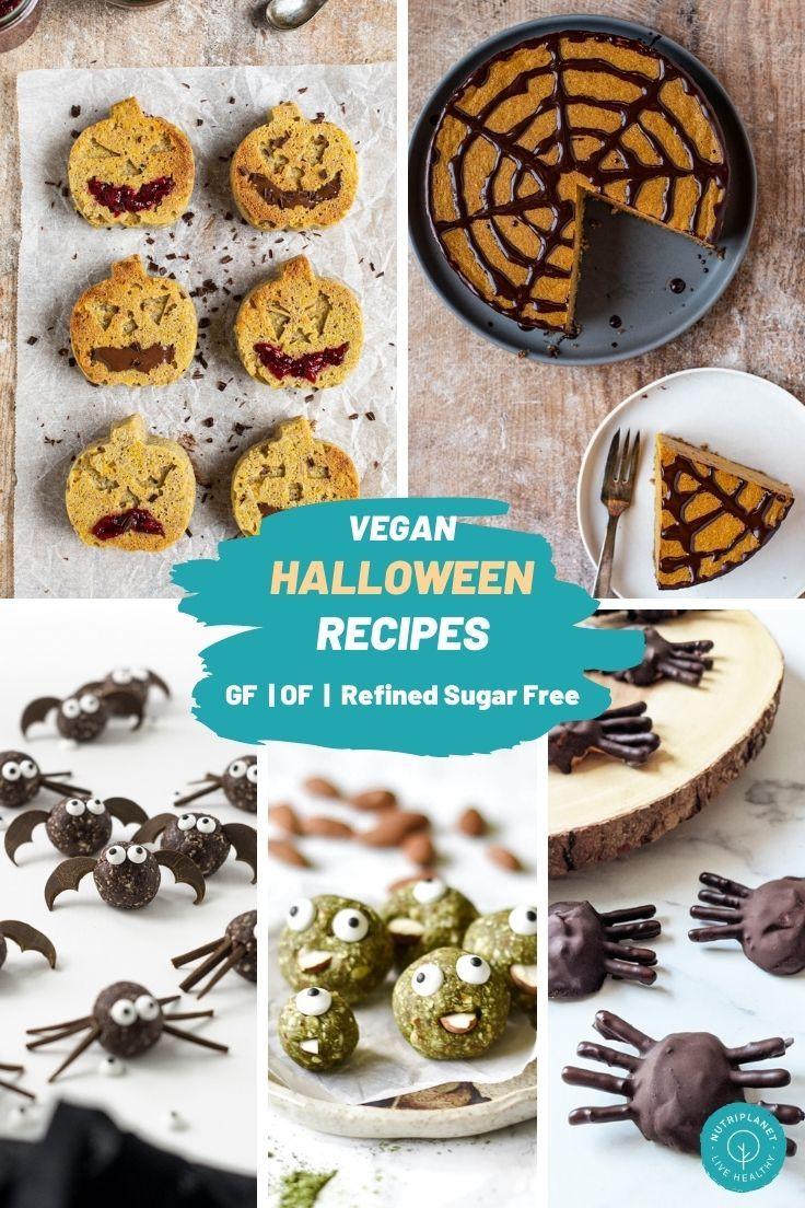 How To Make 16 Healthy Vegan Halloween Recipes Nutriplanet In 2020 Vegan Halloween Food Vegan Halloween Desserts Gluten Free Pumpkin Recipes