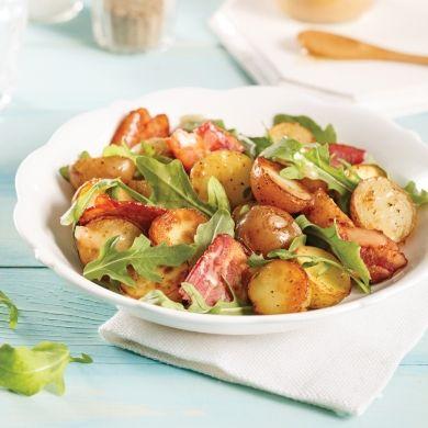 Salade tiède de pommes de terre grelots, bacon et roquette - Recettes - Cuisine et nutrition - Pratico Pratique