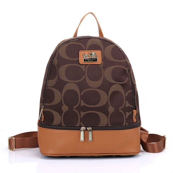 Coach Logo Monogram HW303 Backpack In Coffee