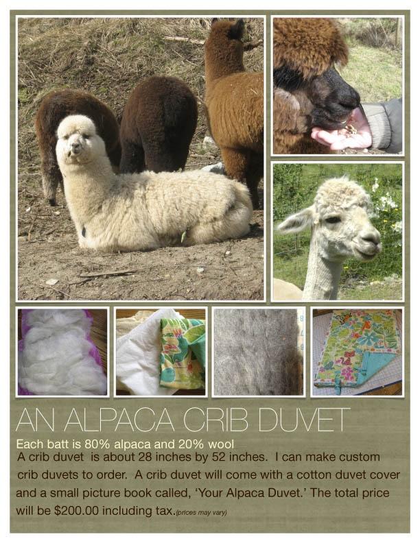 An Alpaca Duvet from rfarm2u!