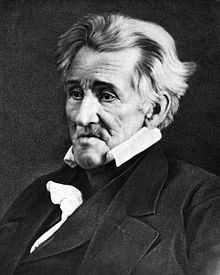 #7  Andrew Jackson (March 15, 1767 – June 8, 1845) was the seventh President of the United States (1829–1837). Based in frontier Tennessee, Jackson was a politician and army general who defeated the Creek Indians at the Battle of Horseshoe Bend (1814), His enthusiastic followers created the modern Democratic Party.