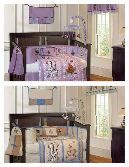This Jungle Themed Crib Set Is Perfect For Twins And Boy 18 Piece 299 99 Twin Nursery Ideas Pinterest Bedding