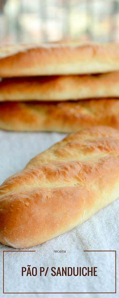 Receita de pão para sanduiche tipo subway