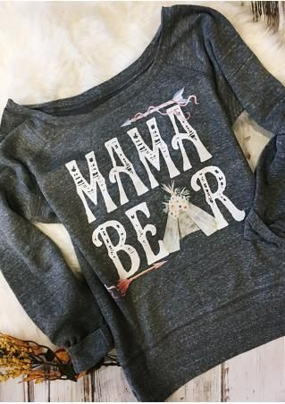 MAMA BEAR Arrow Printed Sweatshirt