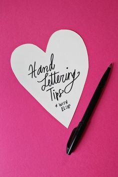 Hand Lettering Tips via A Beautiful Mess