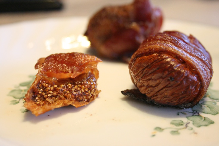Bacon wrapped figs. Recipe from Everyday Paleo