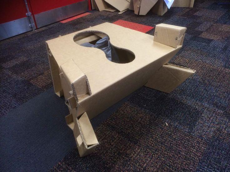 Luke Hughes Design: Cardboard toilet for the elderly in hospital - supports 100kg+