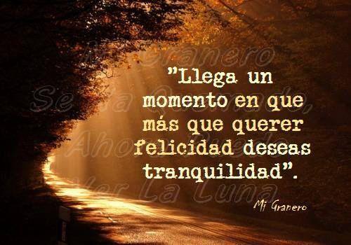 Frases De Felicidad: 〽️ Llega Un Momento En Que Mas Que Querer Felicidad Deseas