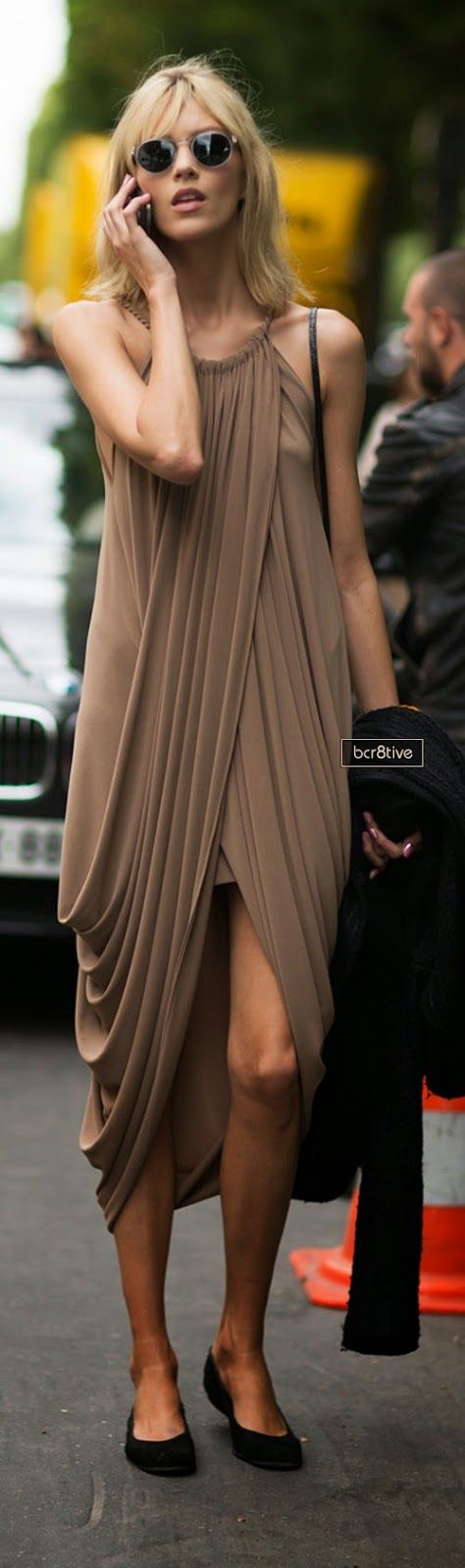 draped dress - street style #fashiontrends #trends #fashion #style