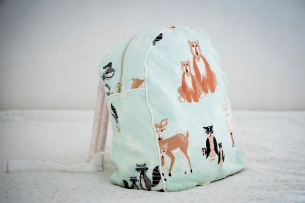 Easy to make toddler backpack out of beautiful Art Gallery fabric!