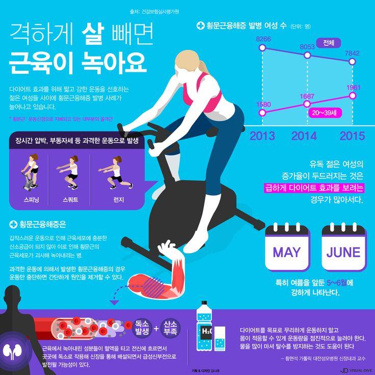 굵고 짧은 다이어트? 지방 대신 근육이 녹는다 [인포그래픽] #muscle / #Infographic ⓒ 비주얼다이브 무단 복사·전재·재배포 금지