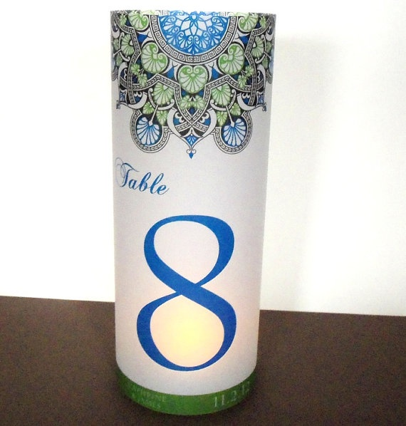 ethnic stargaze luminary candle surrounds 85 tall colorful stargaze personalized design vinyl lettering on glassvase
