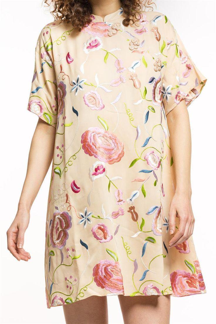 Popular Damenmode online bestellen Hochwertiges Kleid von by TiMo luftiges sommerliches Kleid mit kurzen rmeln mit