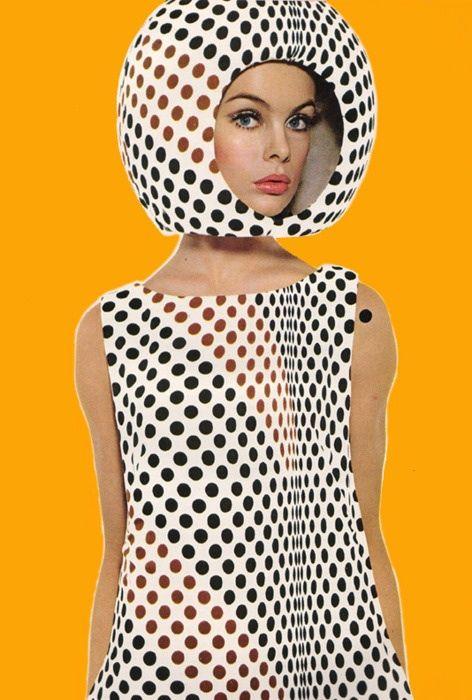 Space Age fashion of the 60s. Harper's Bazaar April 1965. Jean Shrimpton by Richard Avedon