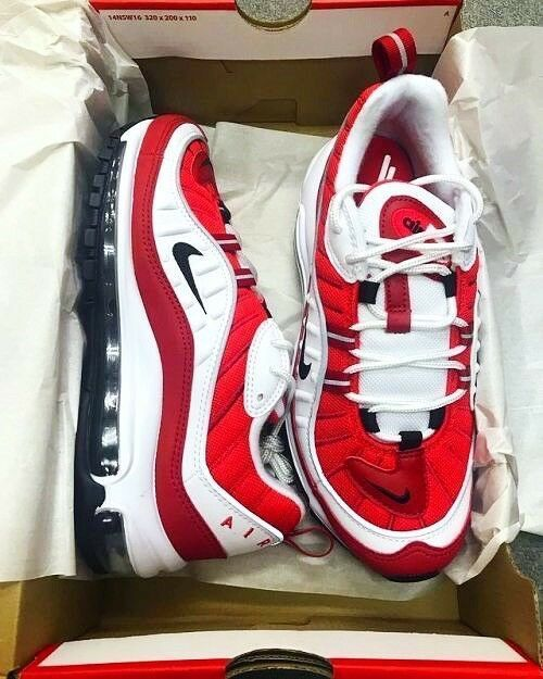 NIKE AIR MAX 98 GYM RED WHITE WMNS SIZES 11 Nike Airs