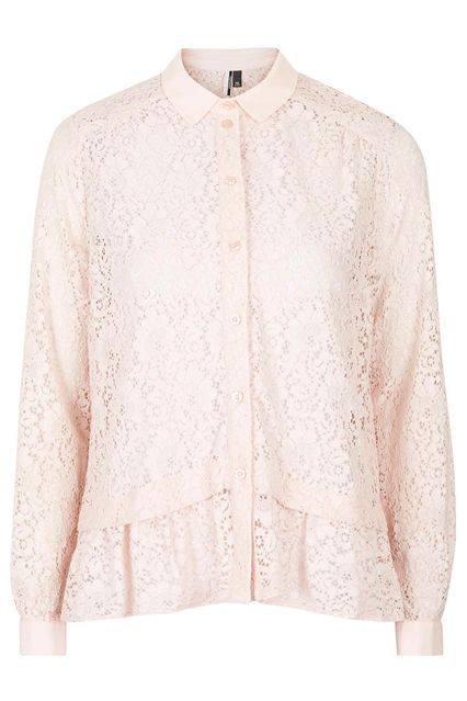 What To Buy From The HUGE Topshop Sale, ASAP #refinery29  http://www.refinery29.com/2015/04/86148/topshop-spring-sale-april-2015#slide-16  A relaxed peplum detail keeps a lacy top from looking too grandma-y.