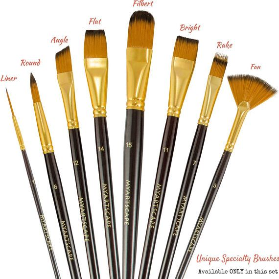 15 Paint Brush Set Long Paintbrushes Brushes For Acrylic