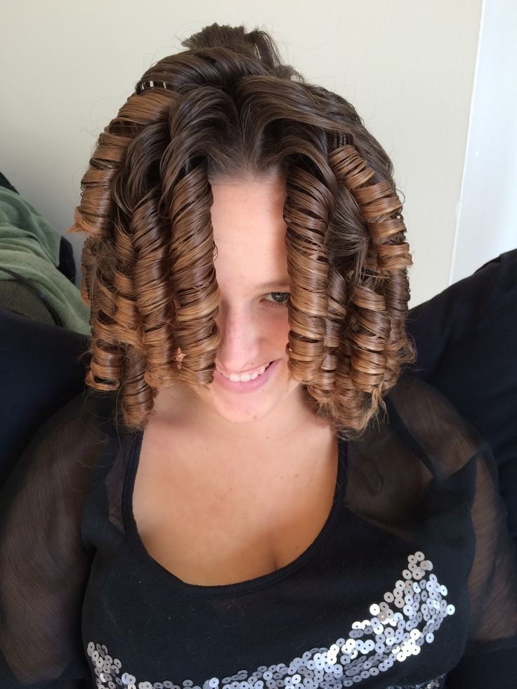Curly permed hair fetish