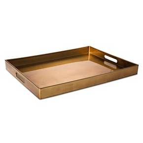 Rectangle 13x18in Plastic Serving Tray Metallic Gold - Threshold™ : Target