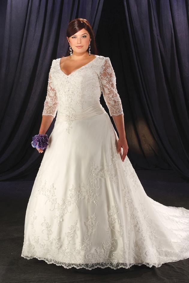 Fotos de vestidos de novias tallas plus