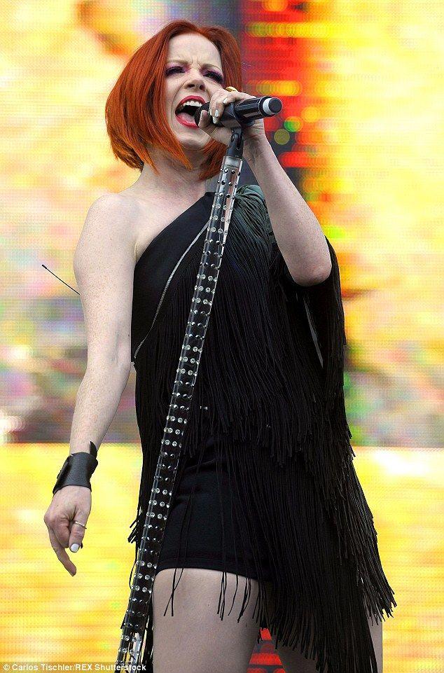 shirley manson garbage singer 2015. Still love her hair
