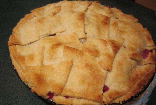 Blueberry Peach Pie with Bourbon Caramel Sauce | VegWeb.com, The World ...