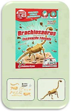 Com ESCAVAÇÃO FÓSSEIS - BRACHIOSAURUS Descobre: - O que são fósseis - Qual a causa de extinção dos dinossauros - Quais as melhores técnicas de escavação - O que é a Paleontologia - Características e curiosidades sobre o Brachiosaurus.