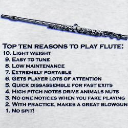 #9 is a joke, for all of the non-band kids who read this. A JOKE I TELL YOU!!!