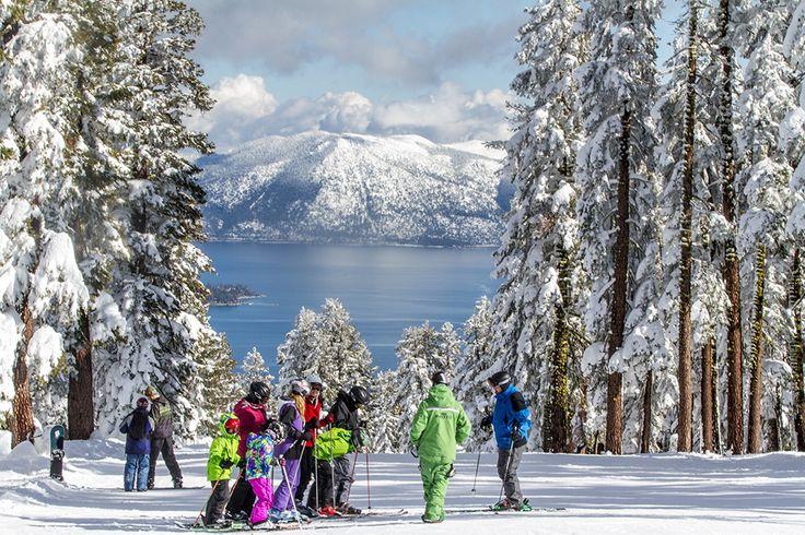 Зимой на озере Тахо #Tahoe #ski