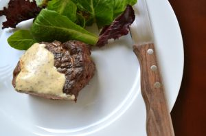 JUST THREE INGREDIENTS! Crazy Good Creamy Mustard Sauce for Steaks -- also delicious with chicken and fish.