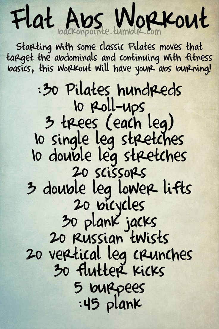 Flat abs workout {back on pointe}