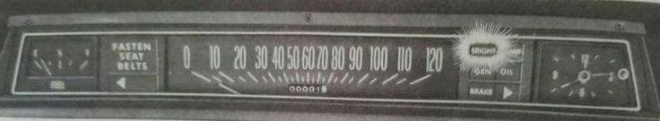 1973 Chevrolet Full Size Car Instrument Panel