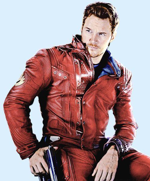 "Chris Pratt as Star-Lord, ""Guardians of the Galaxy."" ""Something good, something bad. A bit of both."""