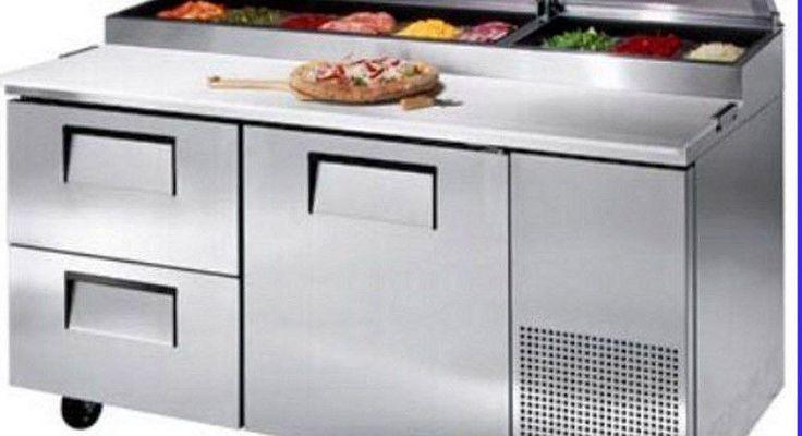 "67"" 1 Door 2 Drawer Pizza Prep Table Restaurant Refrigerator MPF-8205"